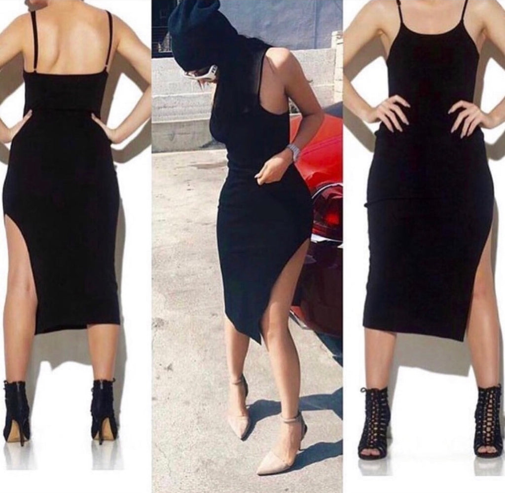 NEW CITY SLIT DRESS