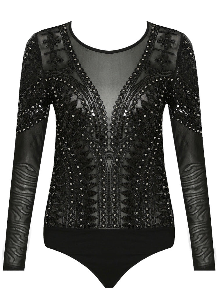 BELLA SEQUIN BODYSUIT