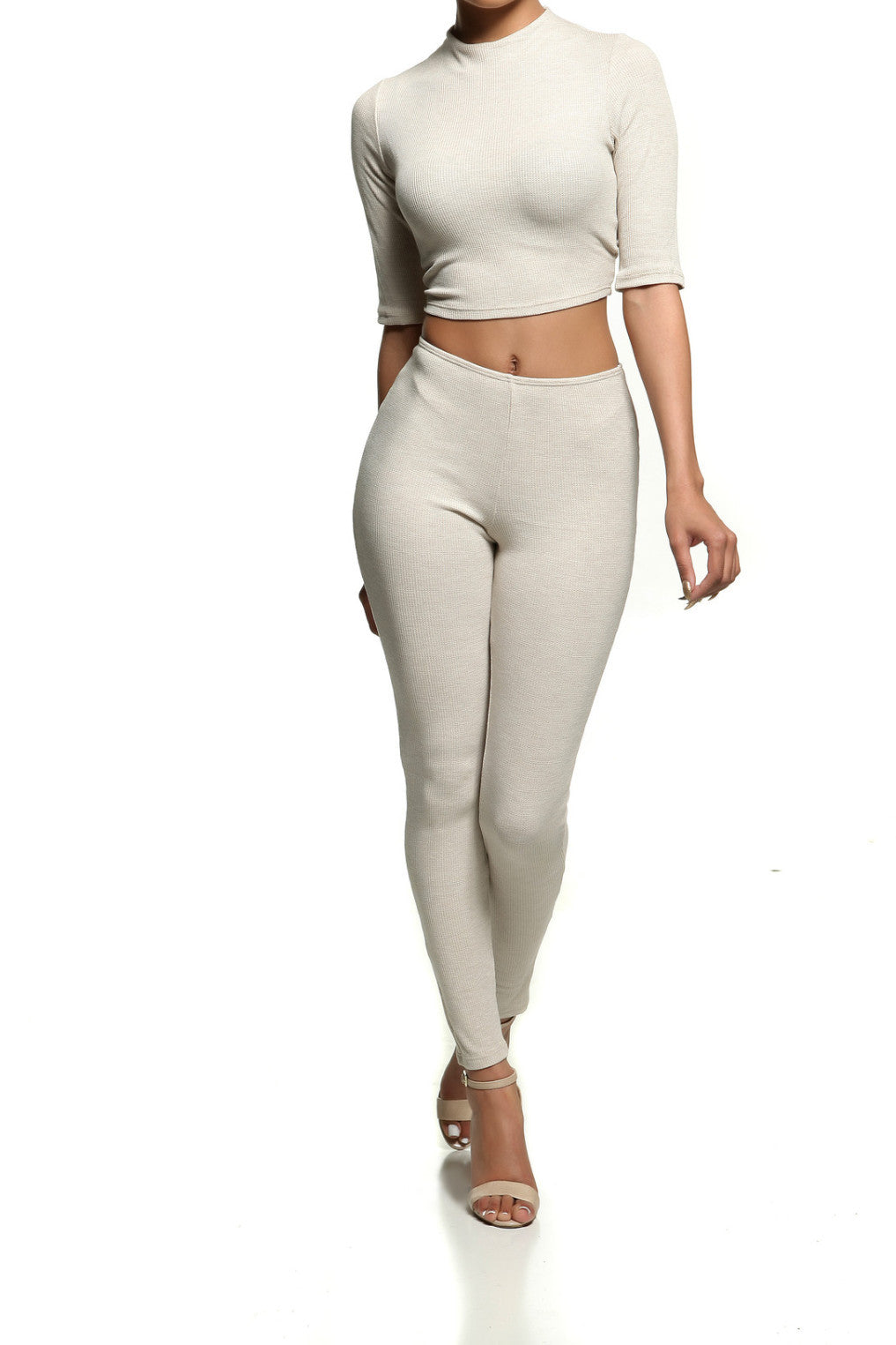 REESE CROPPED THERMAL SET