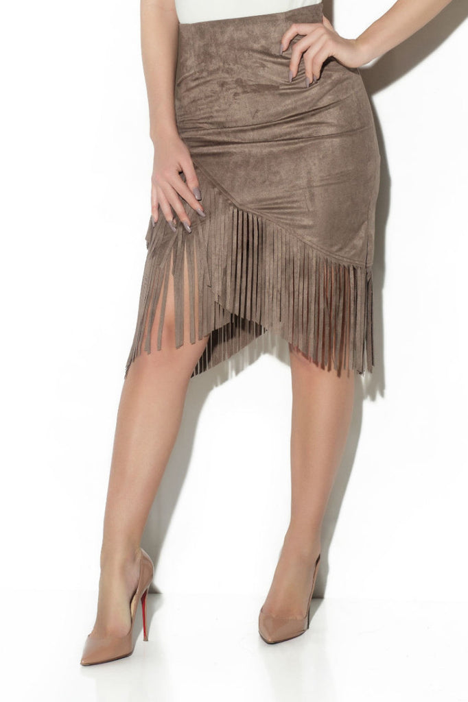 MISBEHAVE SUEDE SKIRT