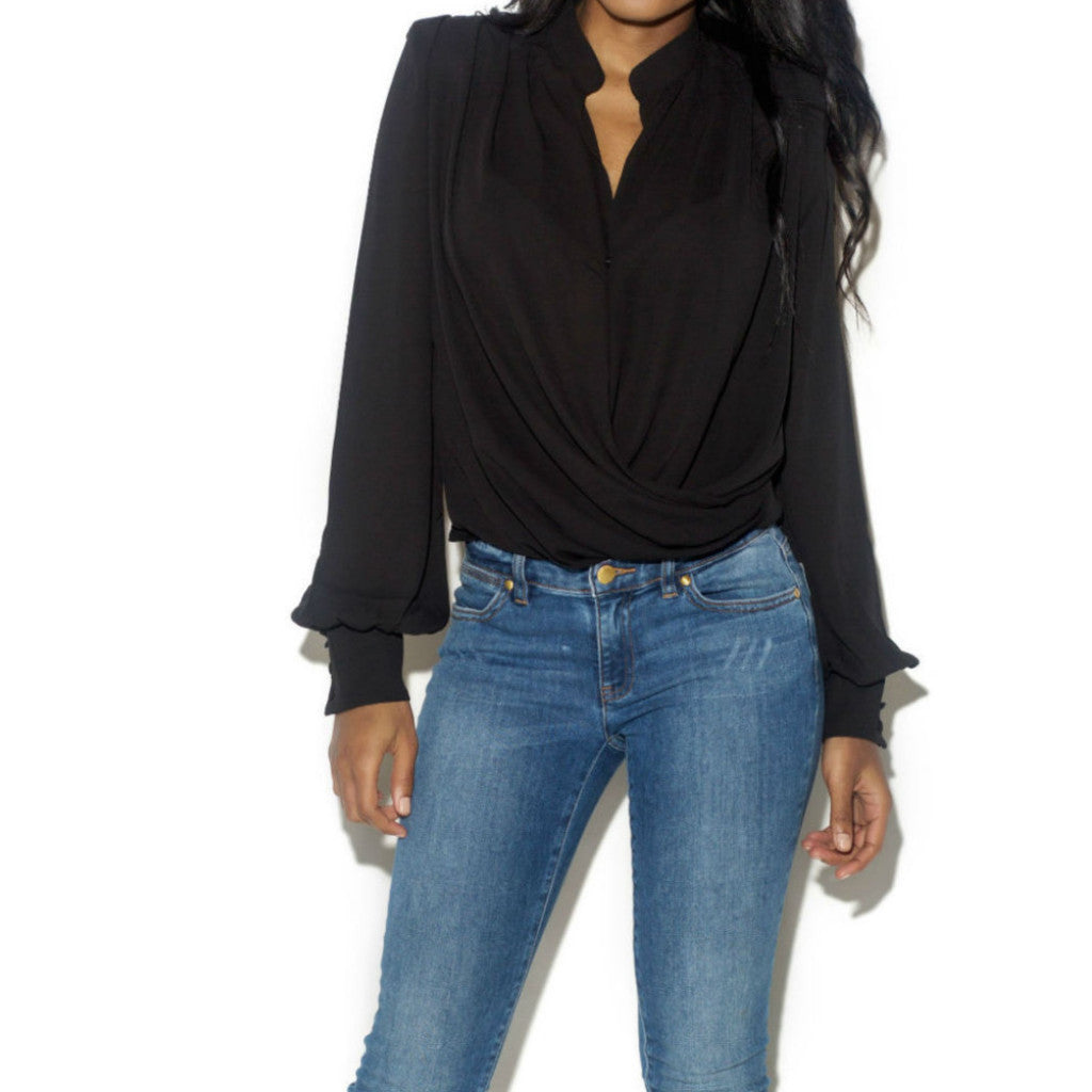 'OH SO CHIC' DRAPED TOP