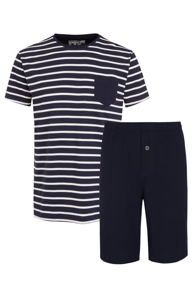 Jockey® Cotton Nautical Stripe ½ Knit Short Pyjama