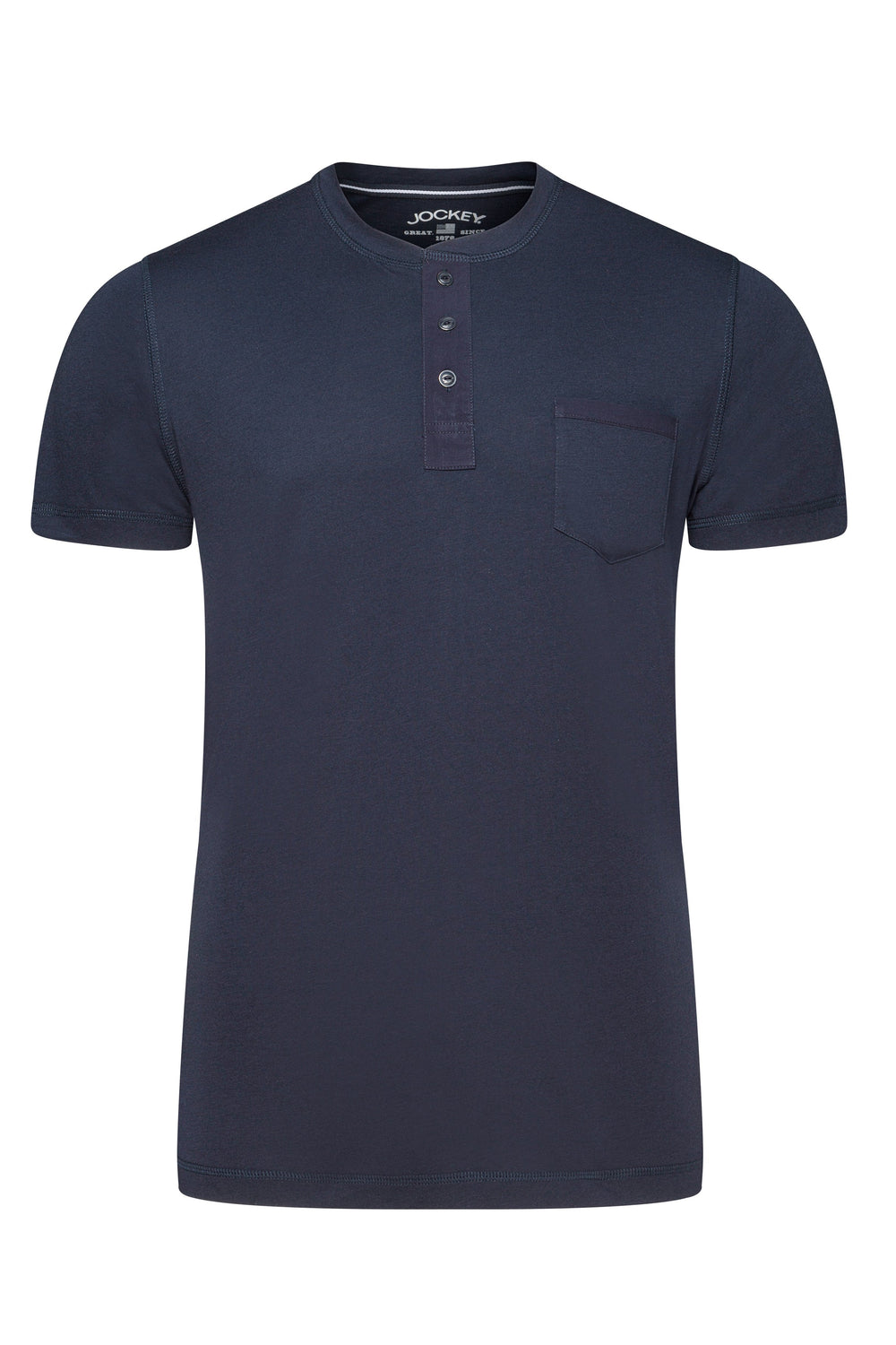 Jockey® Night and Day Short Sleeve Henley Shirt