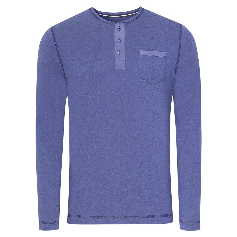 Jockey® Night & Day Long Sleeve Henley Shirt