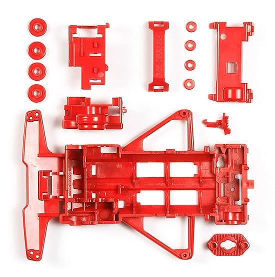 TAMIYA 95243 JR FM REINFORCED CHASSIS (RED)