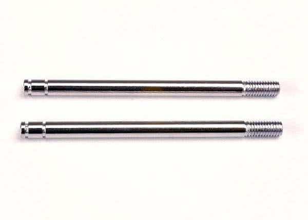 TRAXXAS 1664 - Shock shafts, steel, chrome finish (long) (2) - RUI YONG HOBBY