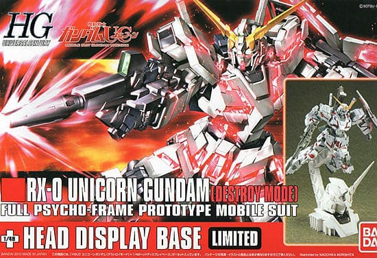 BANDAI 163114: Unicorn Gundam (Destroy Mode) + Unicorn Head