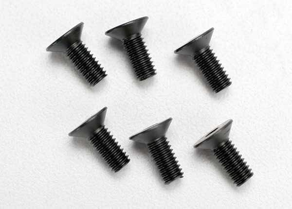 TRAXXAS 2535 - Screws, 4x10mm countersunk machine (hex drive) (6)