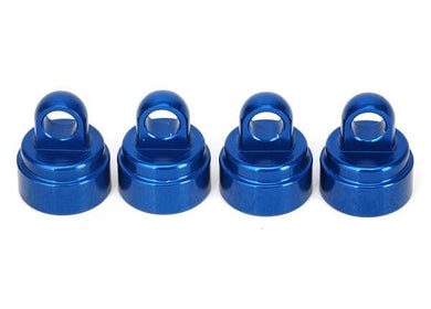 3767A - Shock caps, aluminum (blue-anodized) (4) - RUI YONG HOBBY