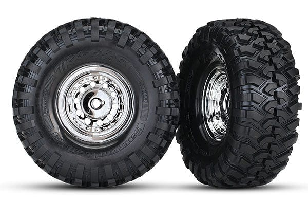 TRAXXAS 8177 - Tires and wheels, assembled, glued