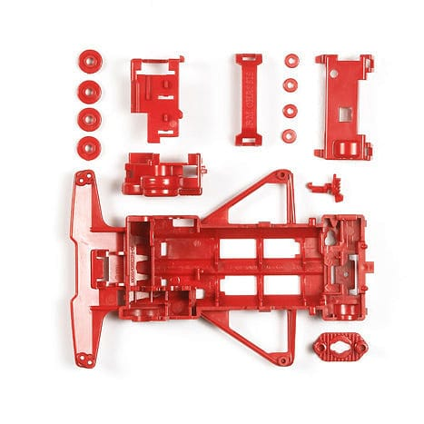TAMIYA 95354 JR Reinforced Chassis Set - VS Chassis (Red) - RUI YONG HOBBY