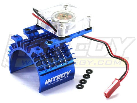 C22470BLUE SUPER MOTOR HEATSINK+COOLING FAN 540/550 - RUI YONG HOBBY