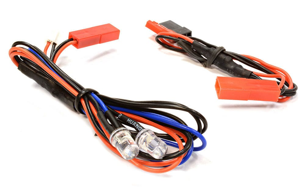 INTEGY C25870 BLUE LED Light 2pcs w/ Extended Wire Harness to Receiver or 6VDC Source