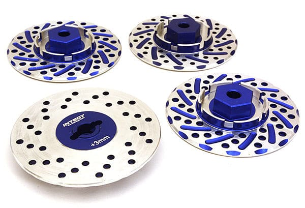 INTEGY C27170BLUE ALLOY 44MM BRAKE DISC 12MM HEX +3 OFFSET FOR 1/10 SIZE RC DRIFT