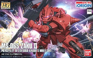 "BANDAI 5055606: #01 Char""s Zaku II ""Gundam The Origin"","