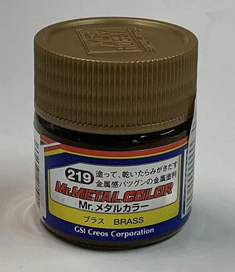 GNZ-MC219: MC219 Mr. Metal Color Brass 10ml