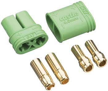 011-0065-00 4mm Polarized Bullet Connector Set - RUI YONG HOBBY