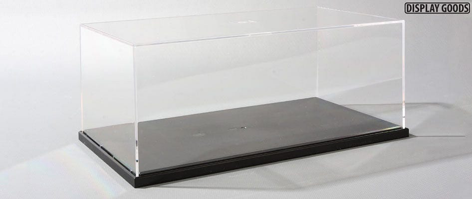 73008  Display Case C w/Mirror Sheet - 240x130x110mm - RUI YONG HOBBY