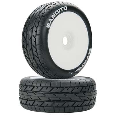 DTXC3638 Bandito 1/8 Buggy Tire C2 Mounted White (2) - RUI YONG HOBBY