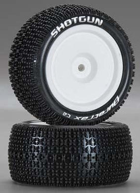 DTXC 3916 Shotgun 1/10 Buggy Tire 4WD Rear C2 Mtd ASC B44 (2)(OPENED ITEM, NEVER USED)