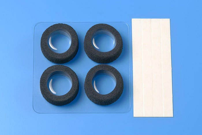tamiya 15388 JR Narrow Reston Sponge Tires - Black - RUI YONG HOBBY
