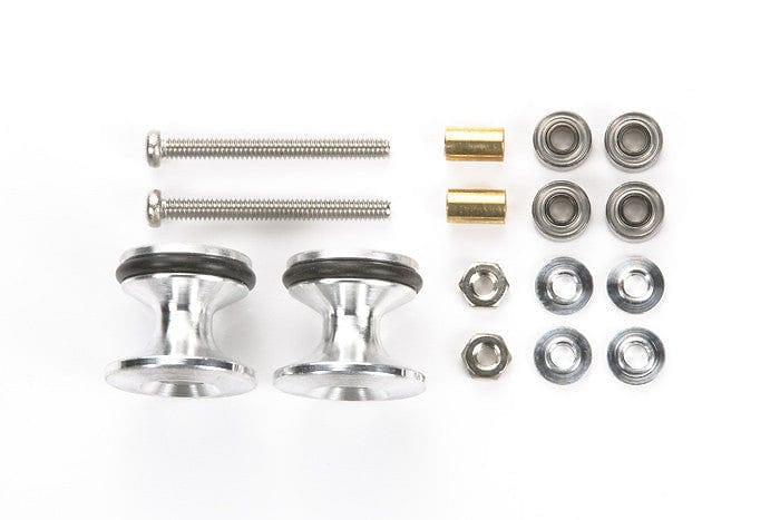 15418 JR Double Aluminum Rollers - w/Rubber Rings (13-12mm) - RUI YONG HOBBY