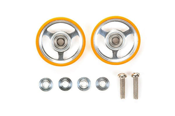 TAMIYA 95349 JR 17mm Aluminum Rollers - w/Plastic Rings (Orange)