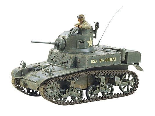 35042 U.S. M3 Stuart Light Tank Kit - CA142 - RUI YONG HOBBY