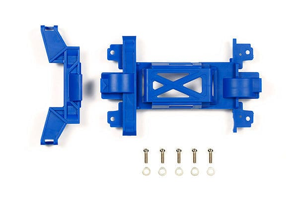 TAMIYA 95392 JR Reinforced Gear Cover Blue - Mini 4WD Station MS Chassis