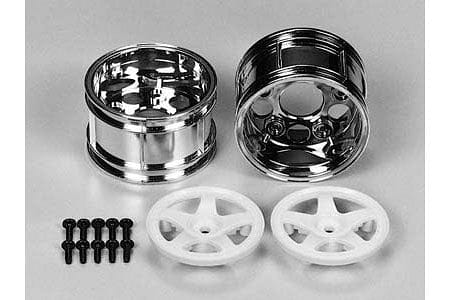 TAMIYA 50673 RC 5Spoke TwoPiece Wide Wheels - (1pr)