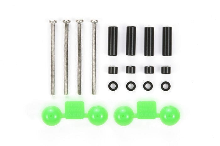 TAMIYA 94754 JR Aluminum Spacer Set Black - 12mm/3mm/1.5mm/4pcs - RUI YONG HOBBY
