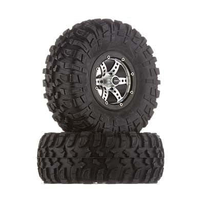 C25336BLACK X6 Spoke Off-Road 2.2 Wheel/Tire Set (2) - RUI YONG HOBBY