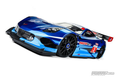 PROLINE 1551  Chevrolet Corvette C7.R Clear Body (GT1) for 1/8 GT (Short Wheelbase)