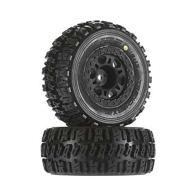 proline  1190-22 Trencher X SC 2.2 /3.0 Tire Mntd Blk Whls Re - RUI YONG HOBBY