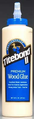 5004 Titebond Waterproof Glue 16 oz - RUI YONG HOBBY