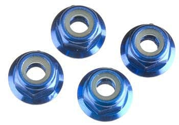 TRAXXAS 1747R Nuts 4mm Flanged Nylon Locking (4) - RUI YONG HOBBY