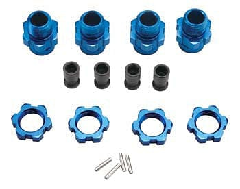TRAXXAS 6856X Wheel Hub Set 17mm Short Blue Slash 4WD (4) - RUI YONG HOBBY