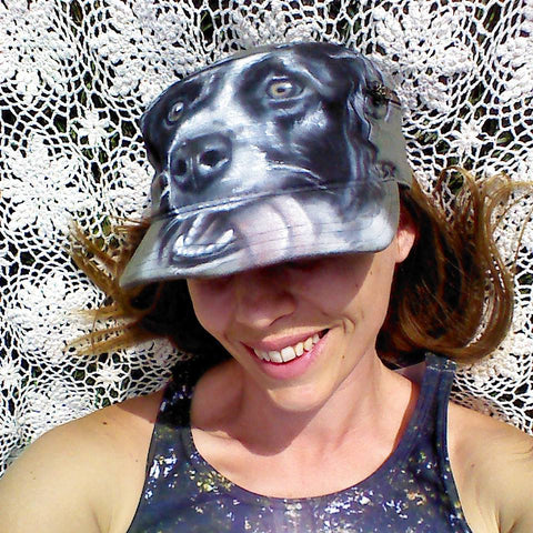 Airbrushed Border Collie Hat
