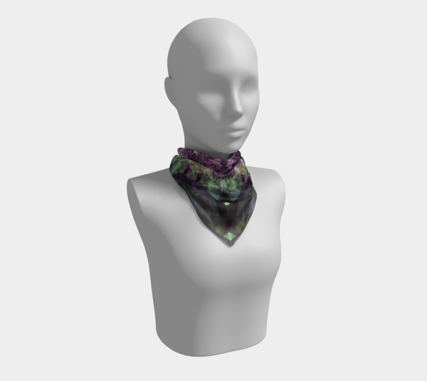 Purple Refraction, Square Scarf