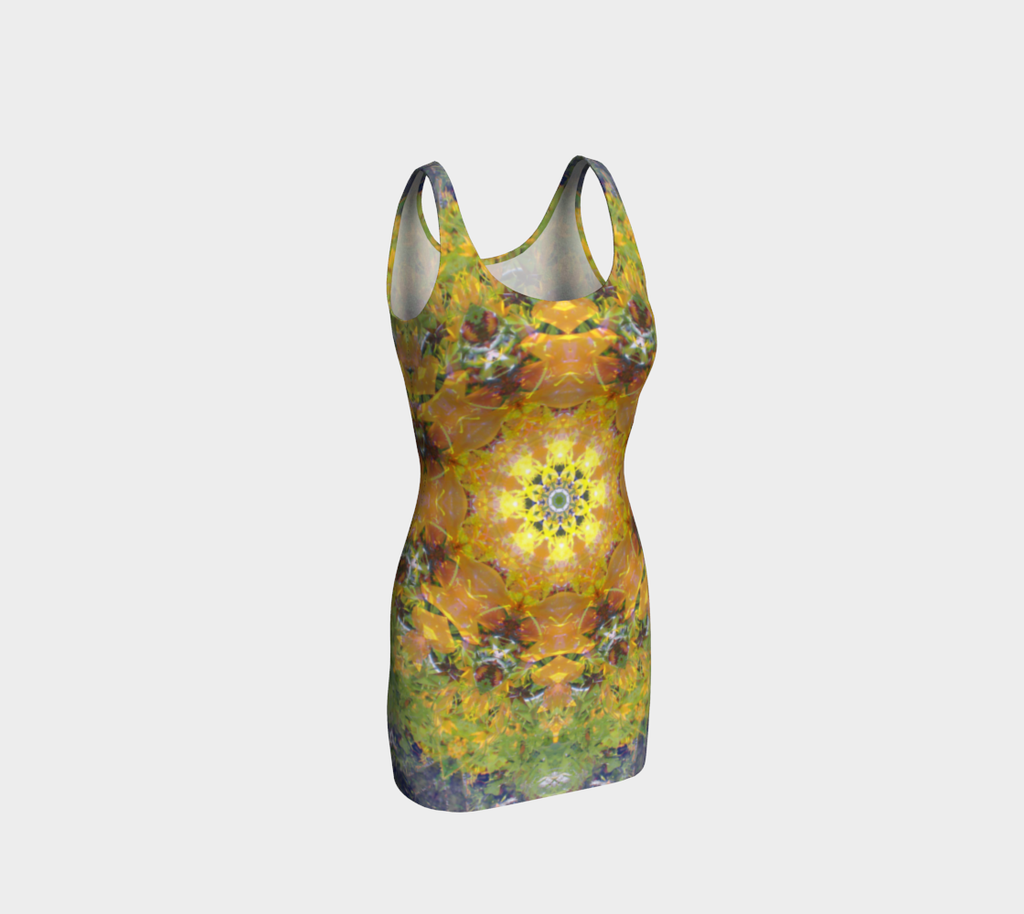 Sunflower Power, Bodycon Dress