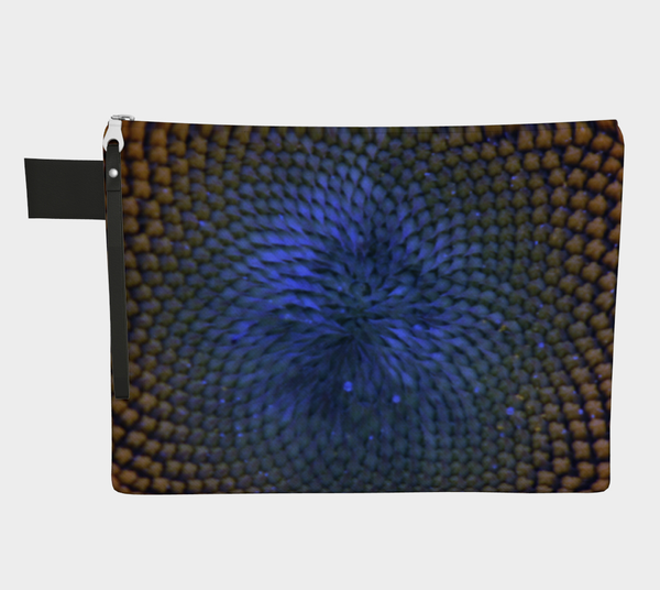 BLUE SUNFLOWER ZIPPER CARRY-ALL