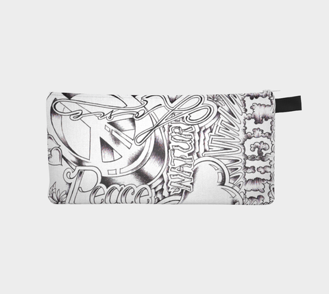 PLUR White Pencil Case