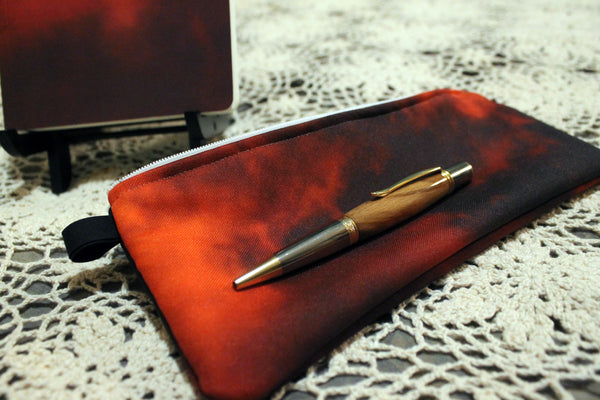 STATIONARY SET: Notebook, Case, Wood Pen