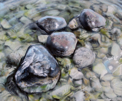 """Partially Submerged""  Original Painting"
