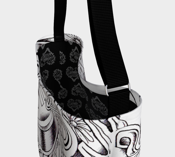 Peace & Love Day Tote. NOW in Black or White