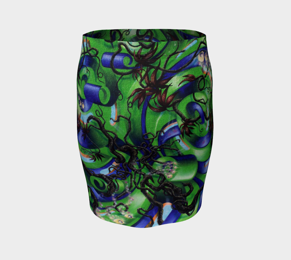 Tree of Flow Fitted Skirt