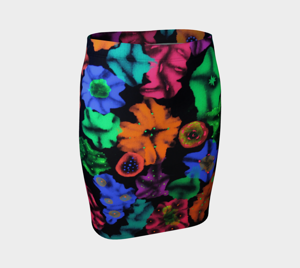 Cosmic Bouquet Pencil Skirt