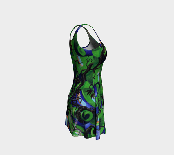 Tree of Flow - Fitted & Flare Dress