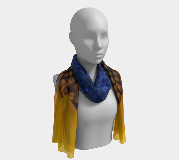 BLUE SUNFLOWER Long Scarf
