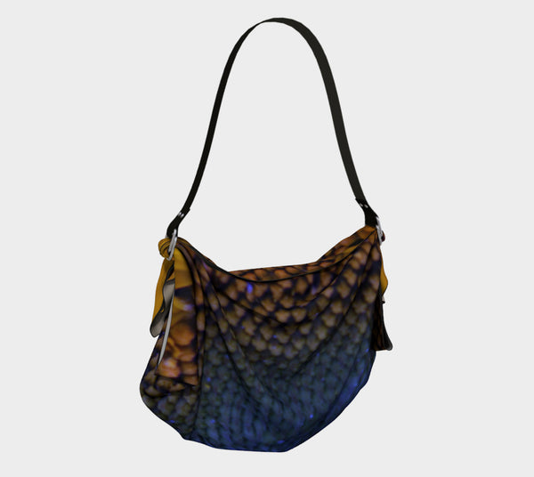 Blue Sunflower Origami Tote